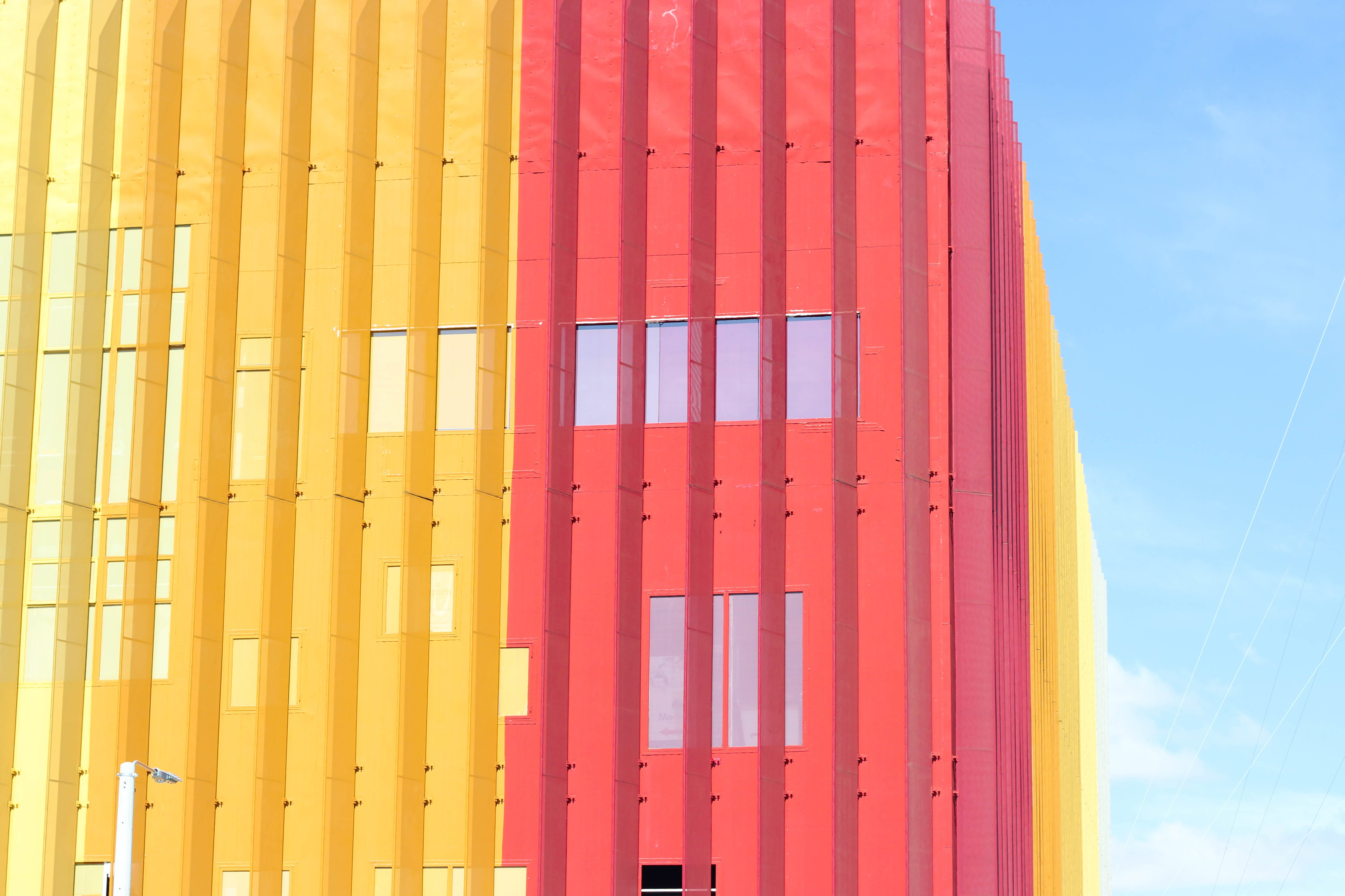 Red and Yellow Building Facade