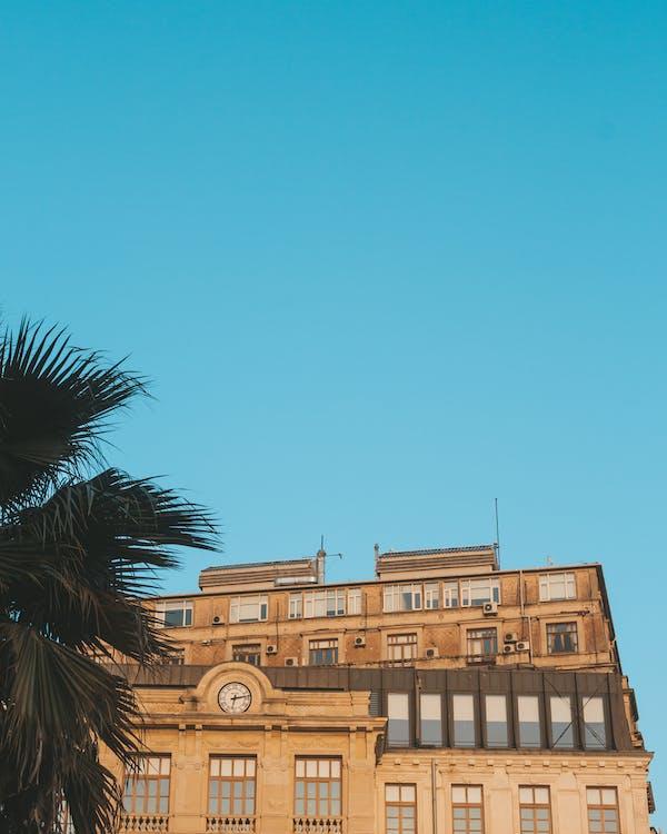 architektura, brązowy, budynek