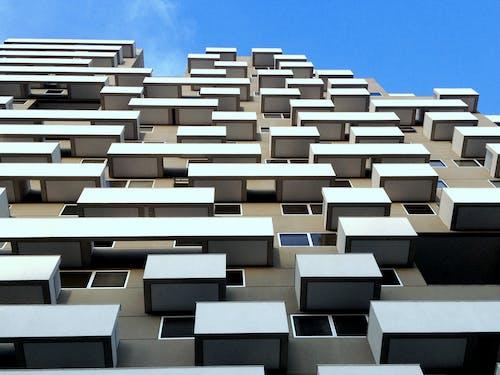 Imagine de stoc gratuită din arhitectură, clădire, ferestre, fotografie cu unghi mic