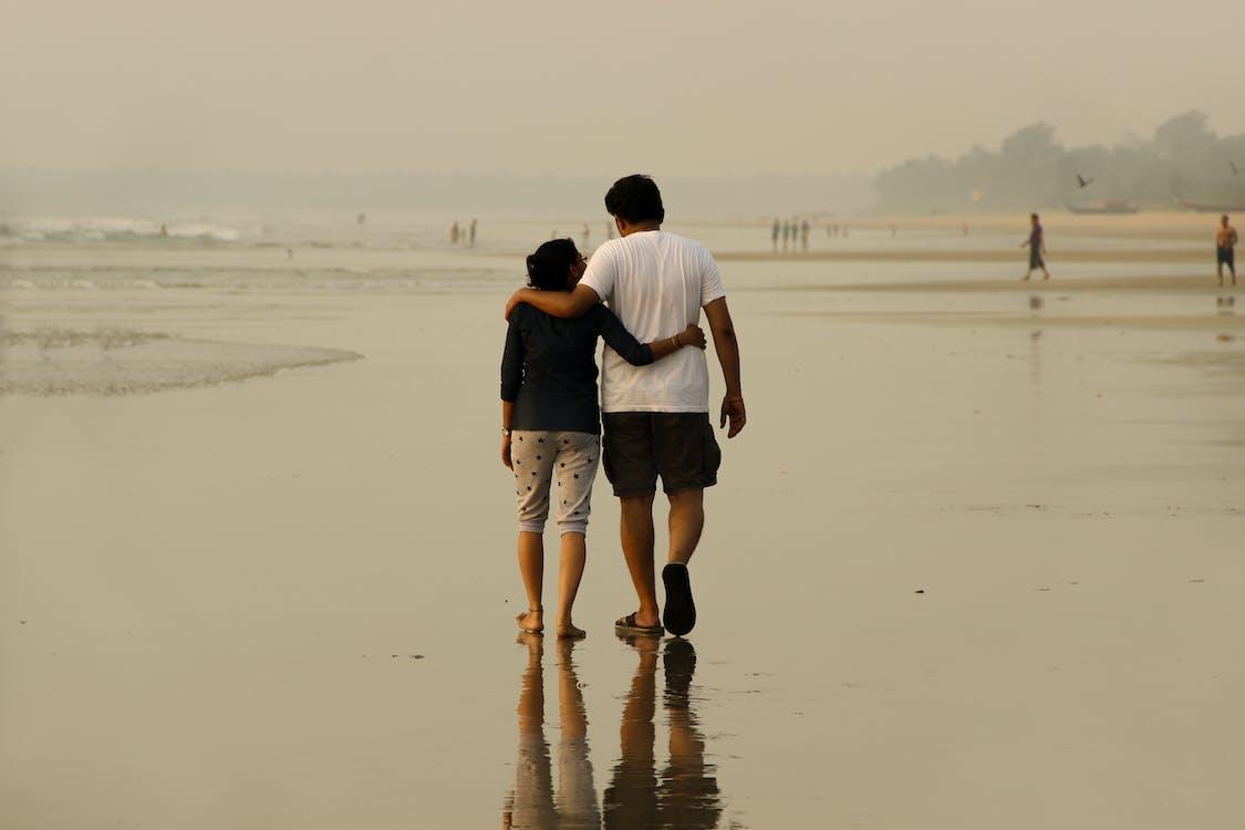 dvojice, láska, pláž