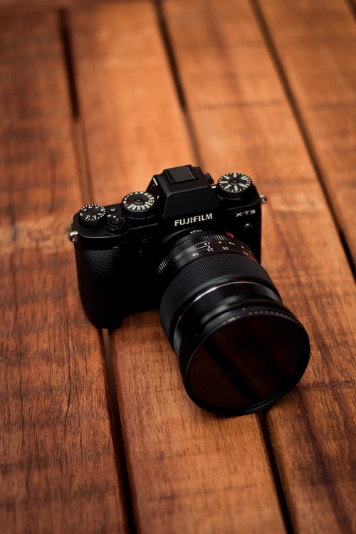Close-Up Photo of Fujifilm Camera