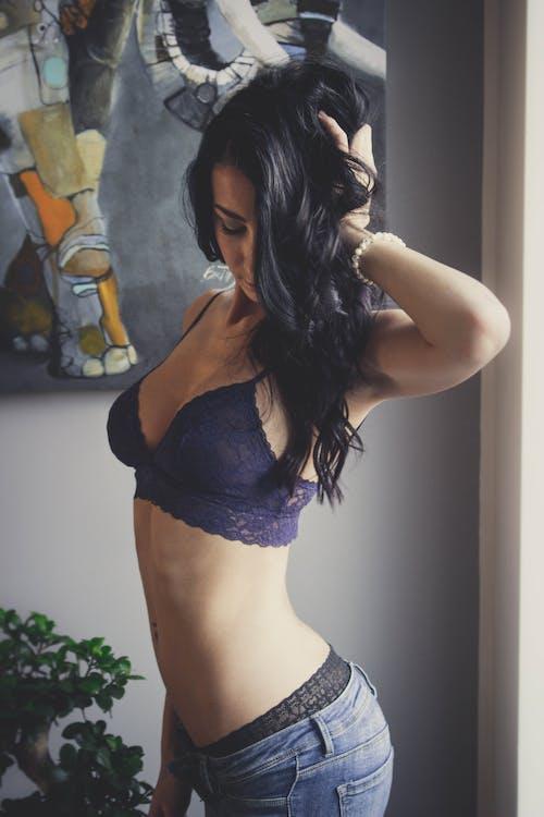 Immagine gratuita di bellissimo, biancheria intima, capelli, donna