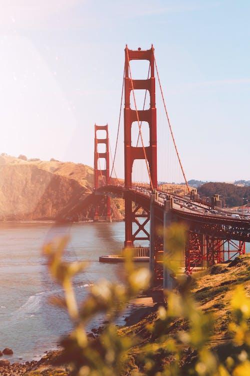 Gratis lagerfoto af arkitektur, baggrund, bro, bugt