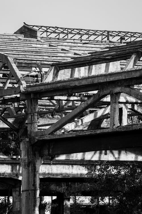 Základová fotografie zdarma na téma beton, černobílá, městské fotografie, opuštěný