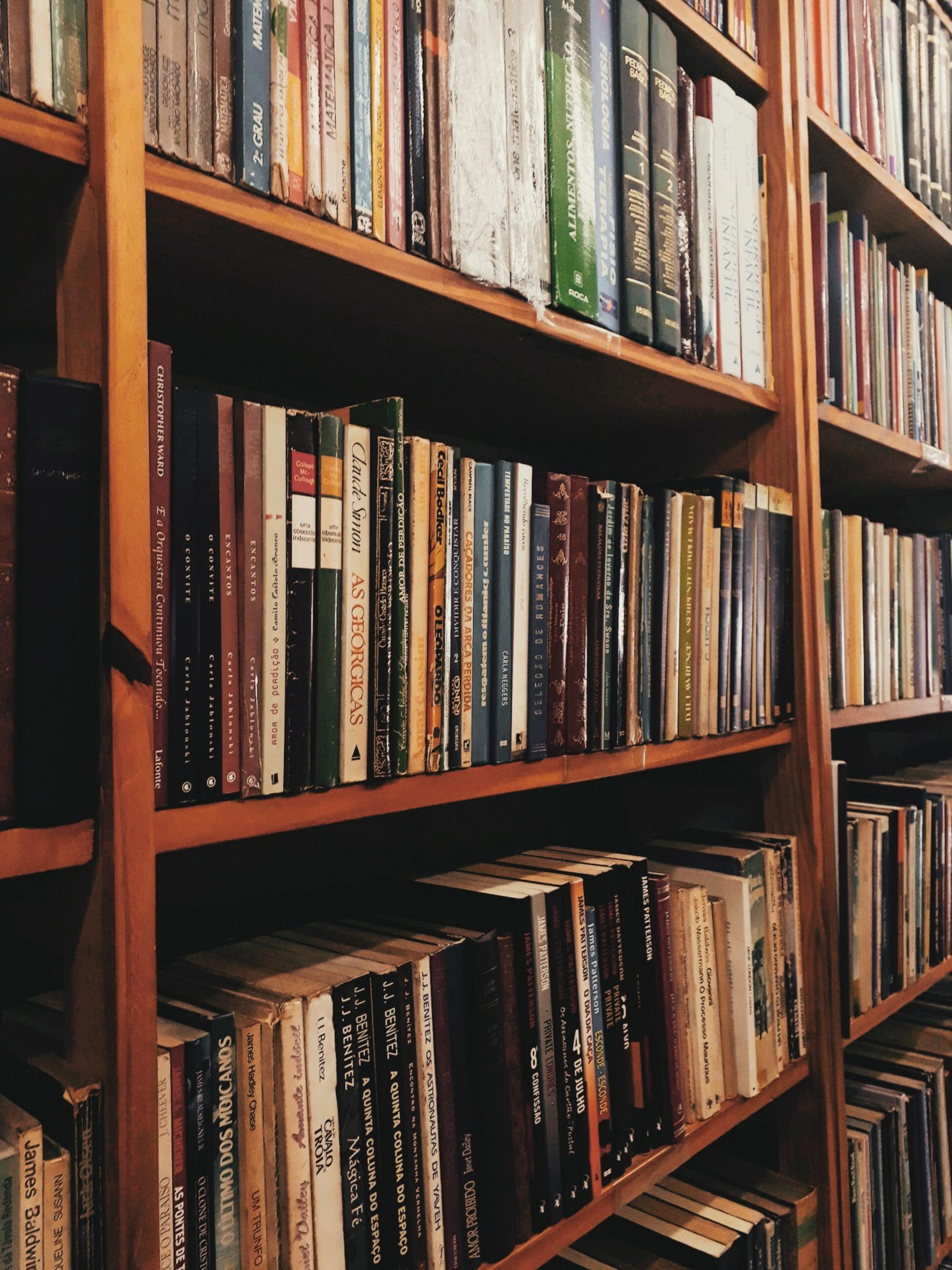Close-up Photo of a Bookshelf Full of Books