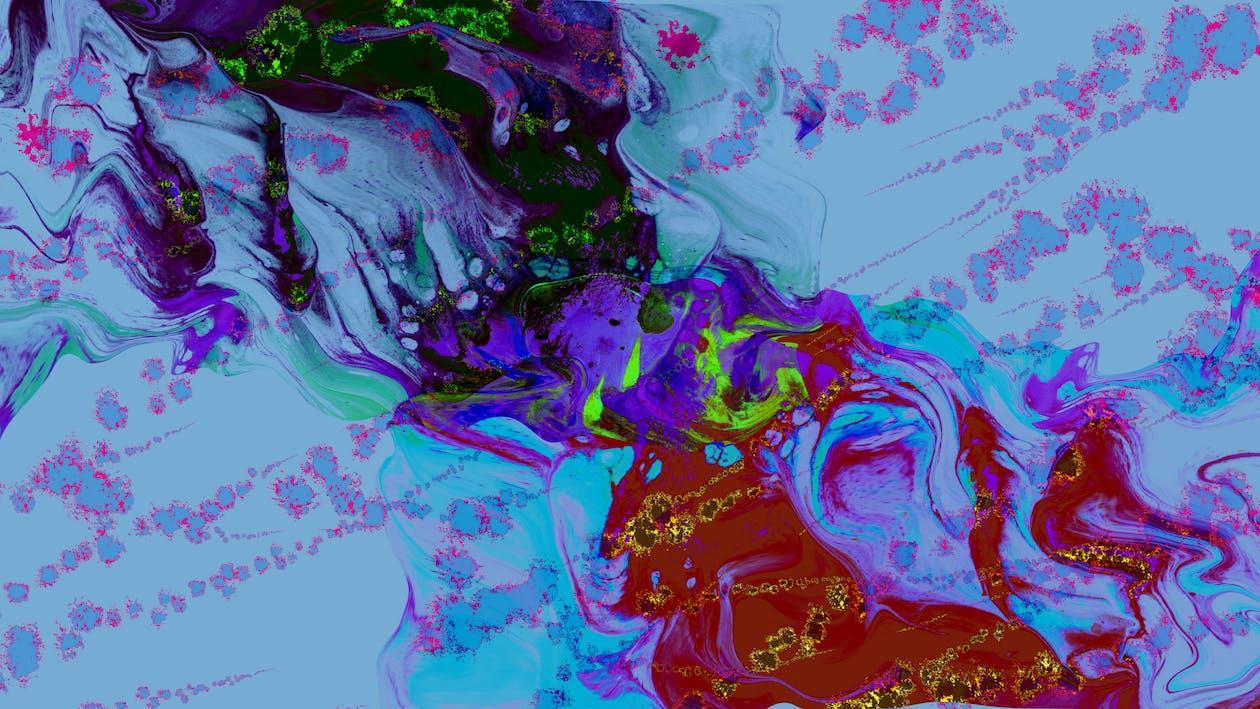4k-baggrund, abstrakt, farver