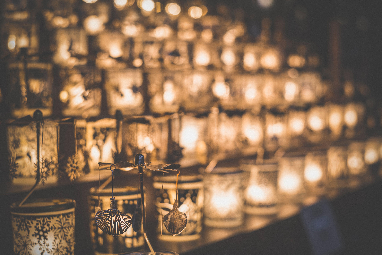 art, blur, candlelight