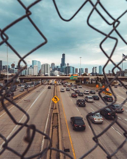 Бесплатное стоковое фото с timbuk2, горизонт, дорожное движение, чикаго