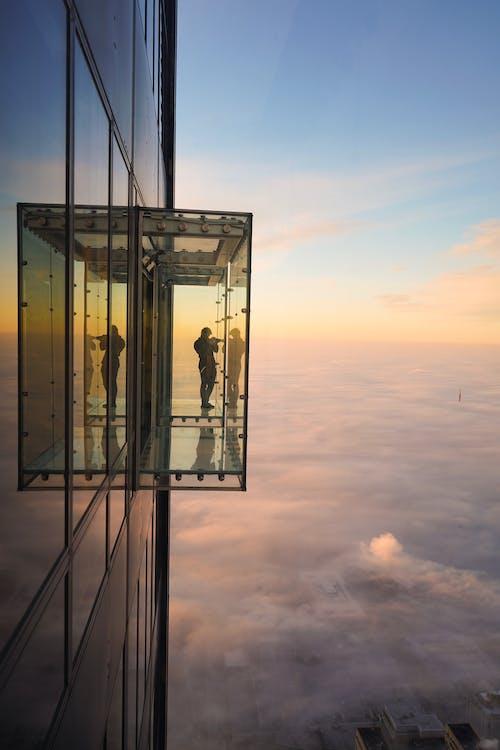 Δωρεάν στοκ φωτογραφιών με background, skydeck σικάγο, skyscape, Ανατολή ηλίου