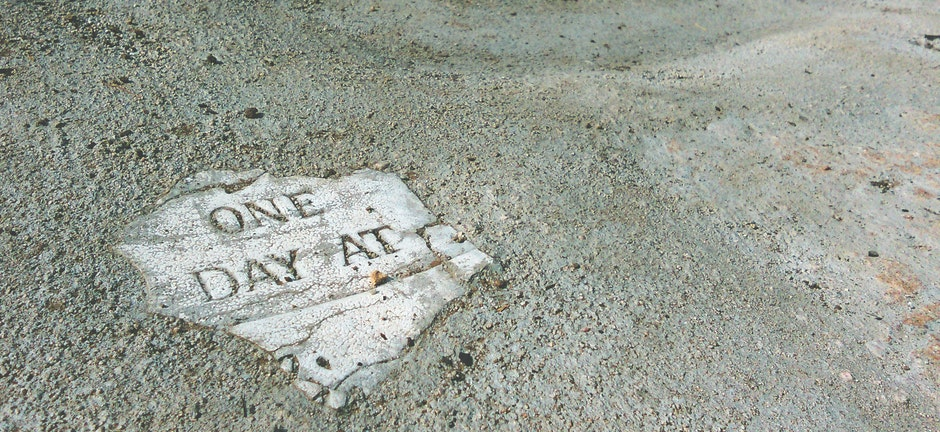 art, concrete, one day at