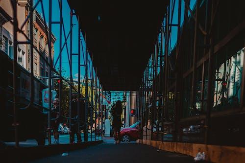 Ingyenes stockfotó ablakok, acél, állvány, belváros témában