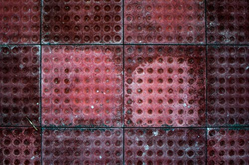 Red Tiles in Closeup Photo