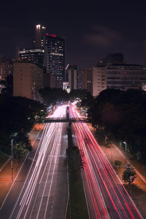 고속도로, 교통, 긴 노출, 도로의 무료 스톡 사진