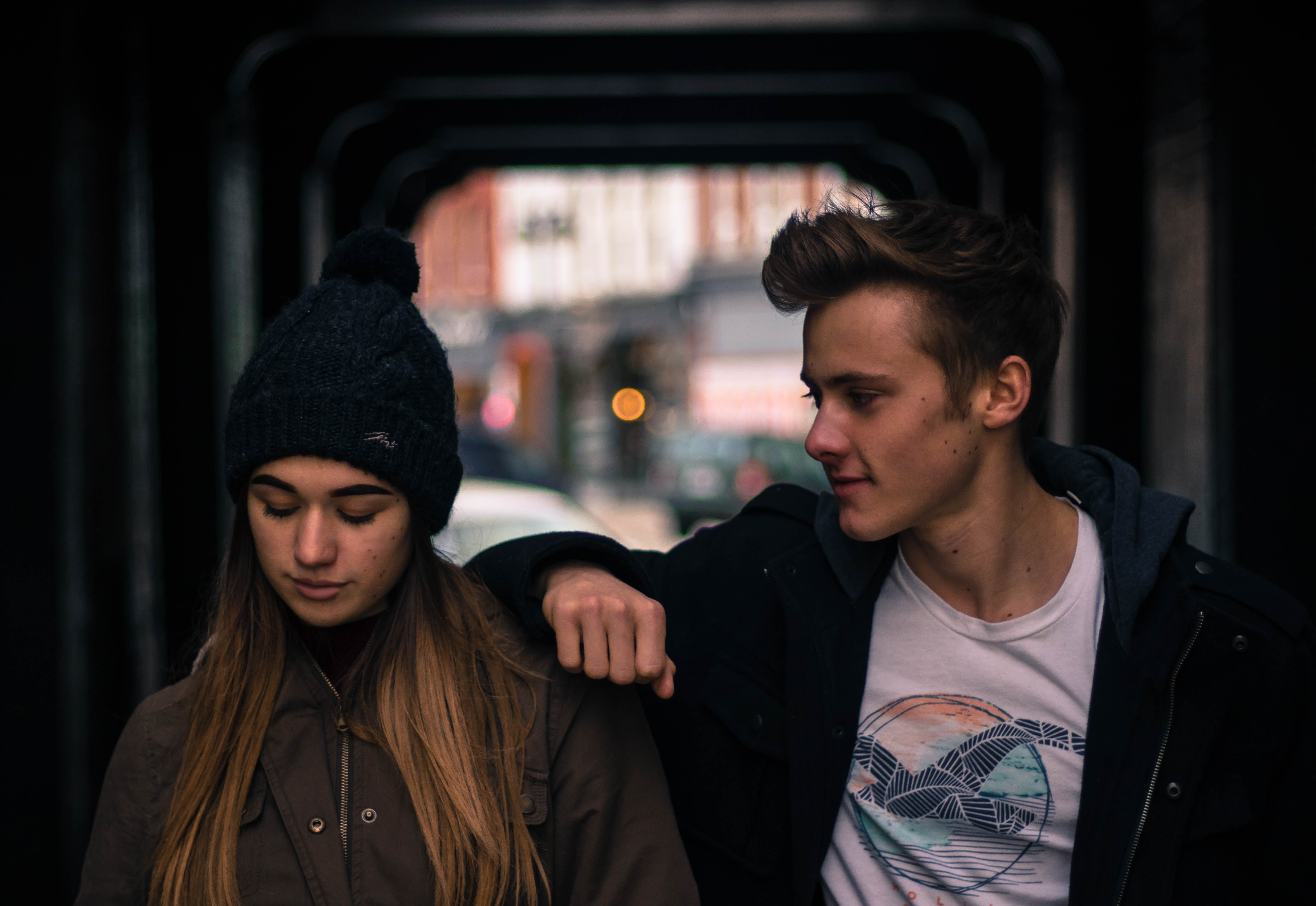 Young Couple in City at Night · Free Stock Photo