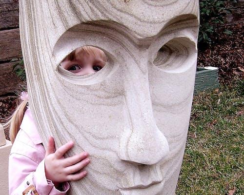 Immagine gratuita di bambino, faccia, occhi, statua