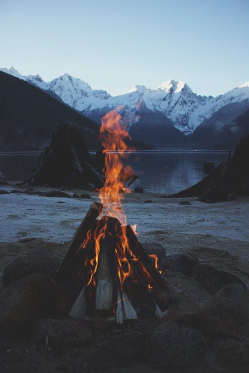 Bonfire Near Body Of Water