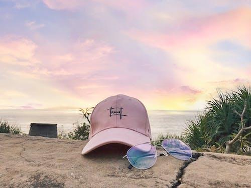 Gratis lagerfoto af glas, hav, naturfotografering, pink baggrund