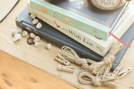 wood, books, desk