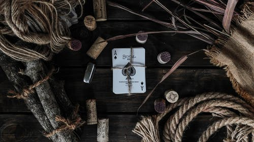 Free stock photo of bicycle card, card game, carved wood