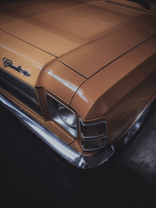 Close-Up Photo of Classic Car