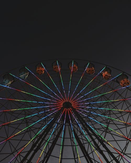 カーニバル, ローアングルショット, 円形, 四捨五入の無料の写真素材
