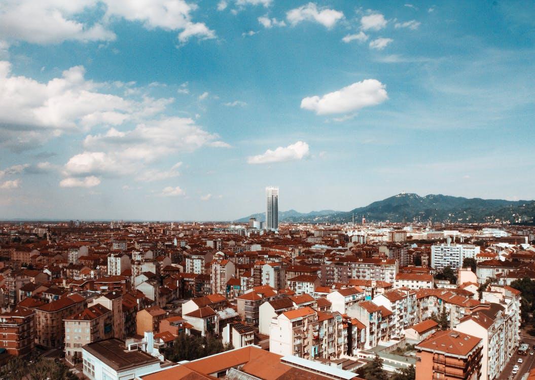 gratte-ciel, panorama, ville