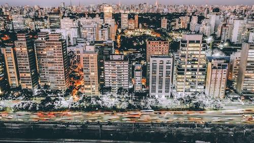 Fotobanka sbezplatnými fotkami na tému architektúra, budovy, centrum mesta, letecký záber