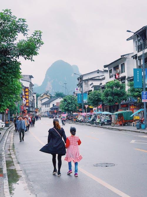 거리, 건물, 걷고 있는, 교통의 무료 스톡 사진