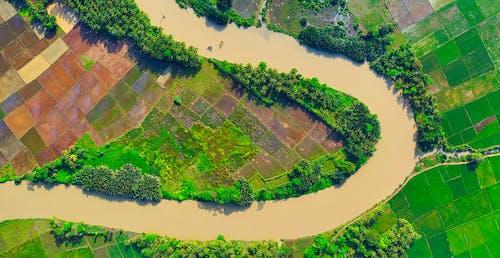 Foto profissional grátis de aerofotografia, agricultura, água, ao ar livre