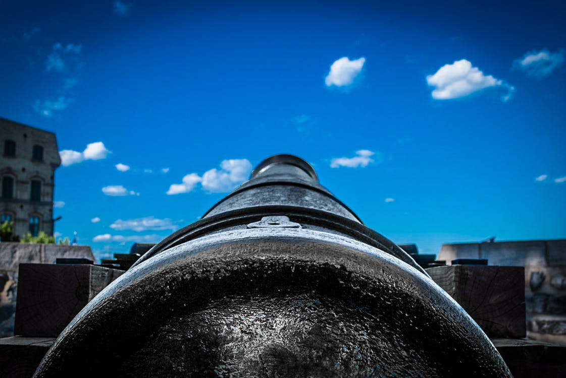 Close-up of Photo of A Cannon