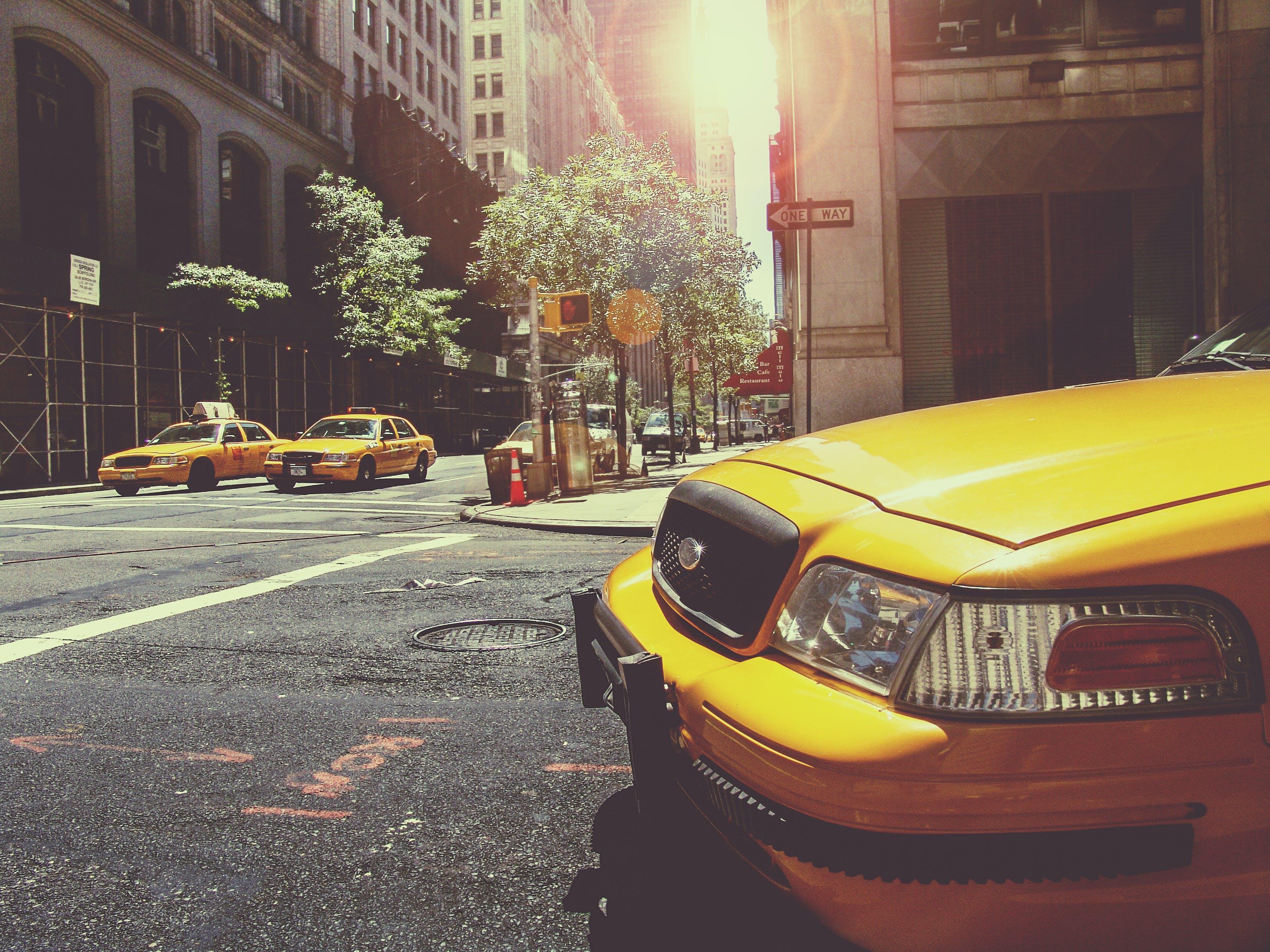 cab, cars, city