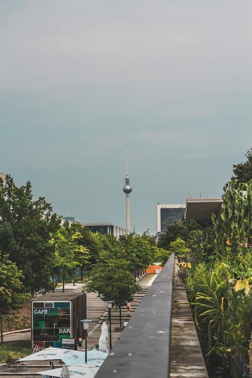 Fernsehturm, あたたかい, ベルリン, ベルリンテレビ塔の無料の写真素材
