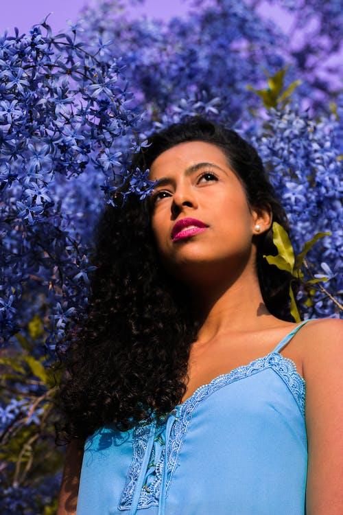 Бесплатное стоковое фото с бразильянка, глубина резкости, голубой, губы