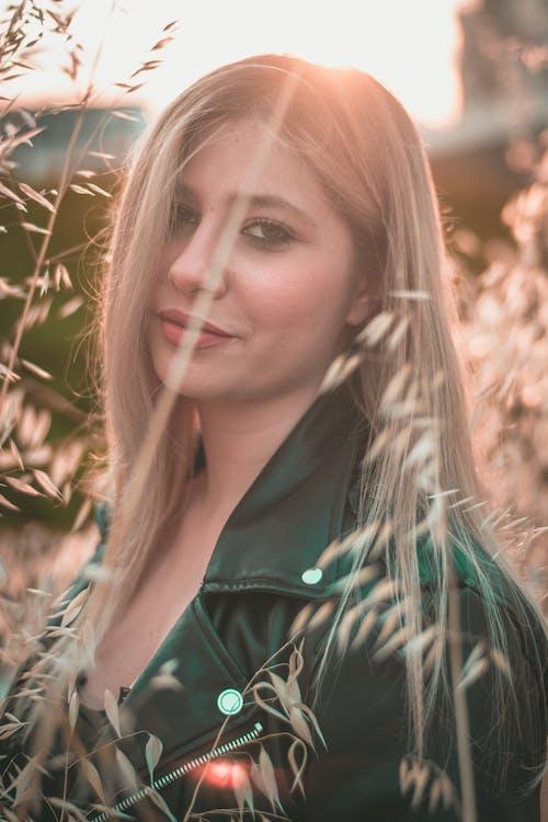 ansikt, blond, dagslys