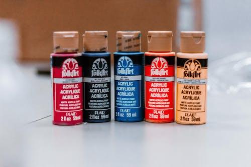 Kostenloses Stock Foto zu acryl, acrylfarbe, farben, farbstoffe