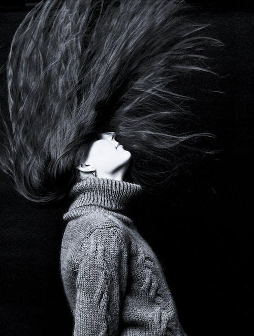Imagine de stoc gratuită din alb-negru, artă, fată, femeie