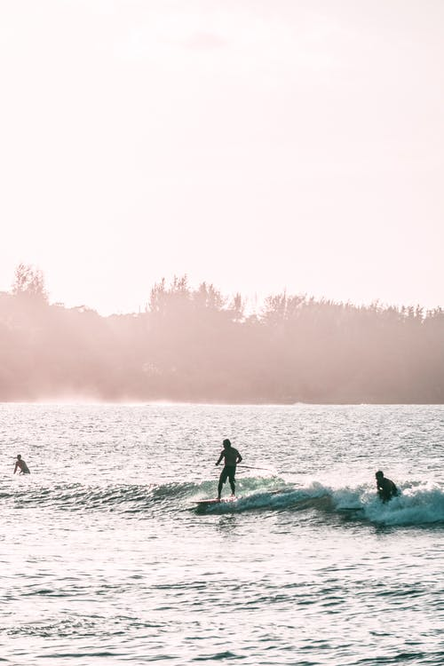 Photo of People Riding Surfboard