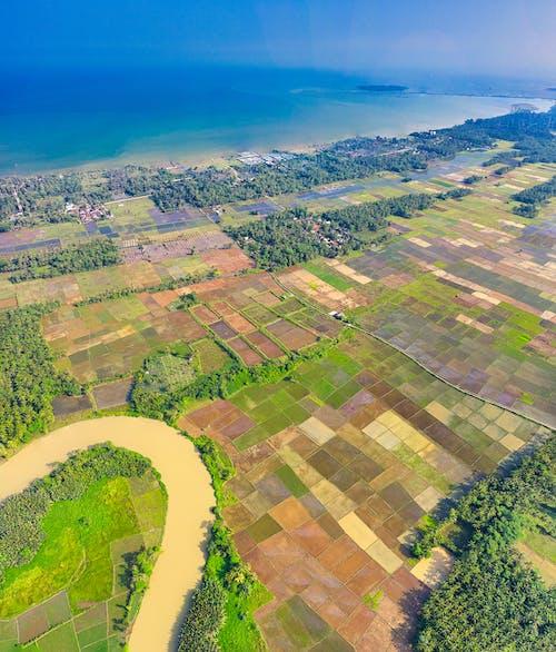 Ingyenes stockfotó drónfelvétel, fák, farm, festői témában