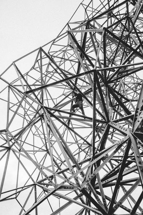 Безкоштовне стокове фото на тему «ілюстрація, альпінізм, відтінки сірого, високий»