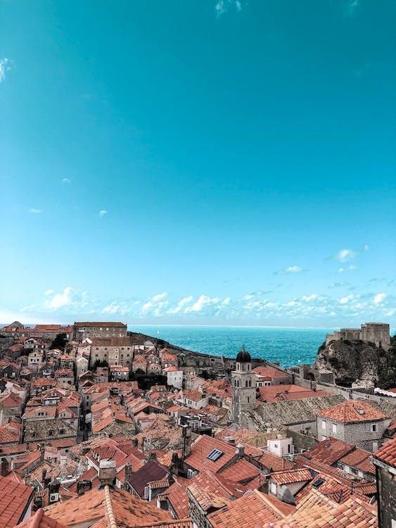 Cityscape Uner Blue Sky