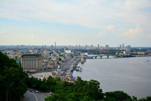 Бесплатное стоковое фото с днепр, киев, речка, речной вокзал