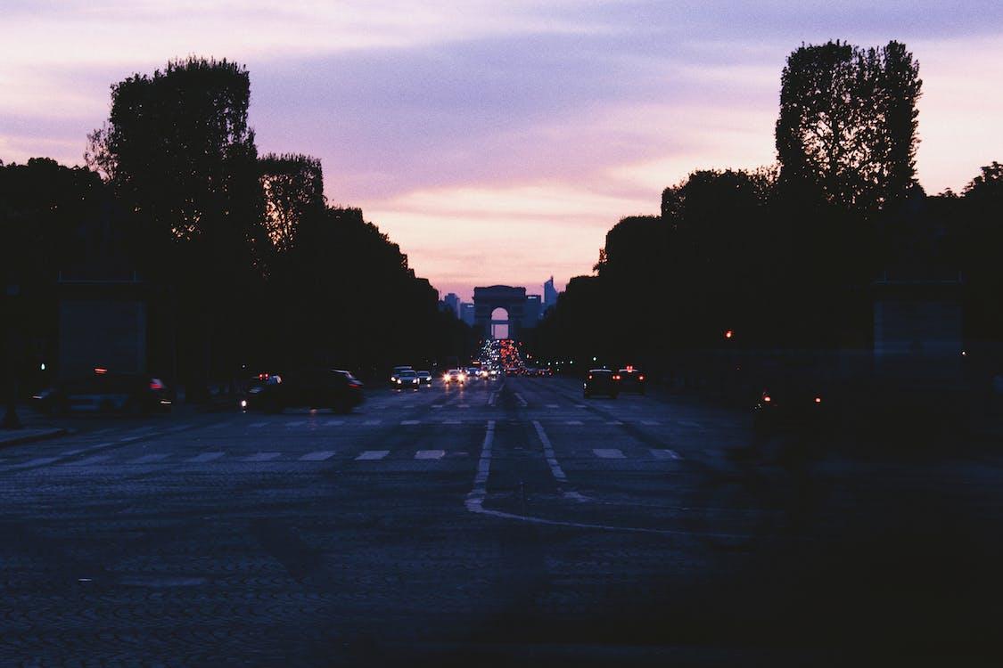 alba, asfalto, auto