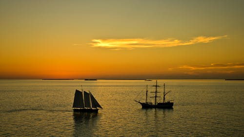 Free stock photo of caribbean, ocean, sailboat, sailing