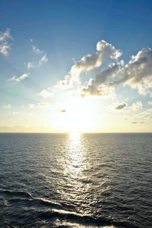 Free stock photo of ocean, sun, sun ray, sunset