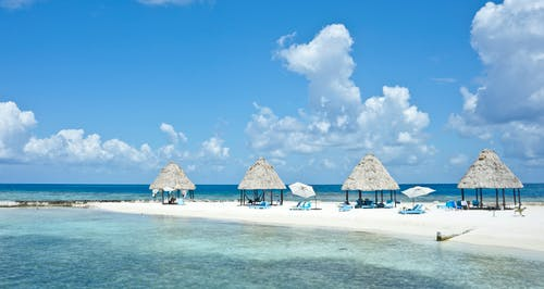 Free stock photo of beach, caribbean, hut, ocean