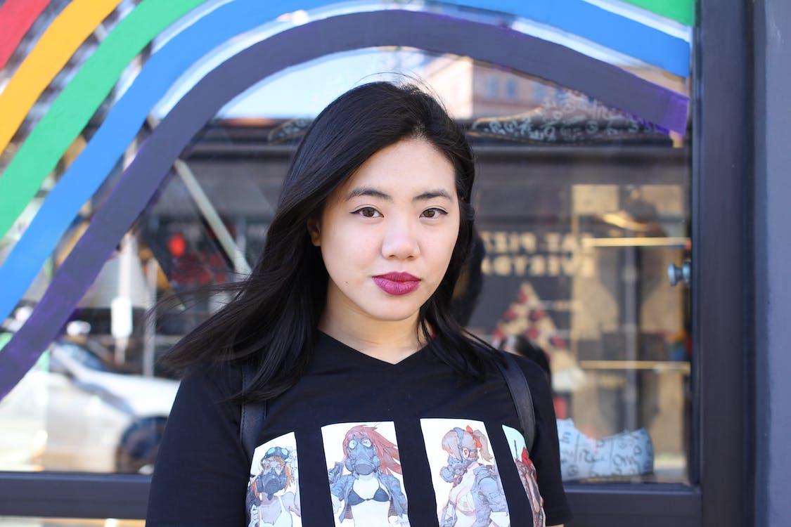 asiatka, asijský model, brunetka