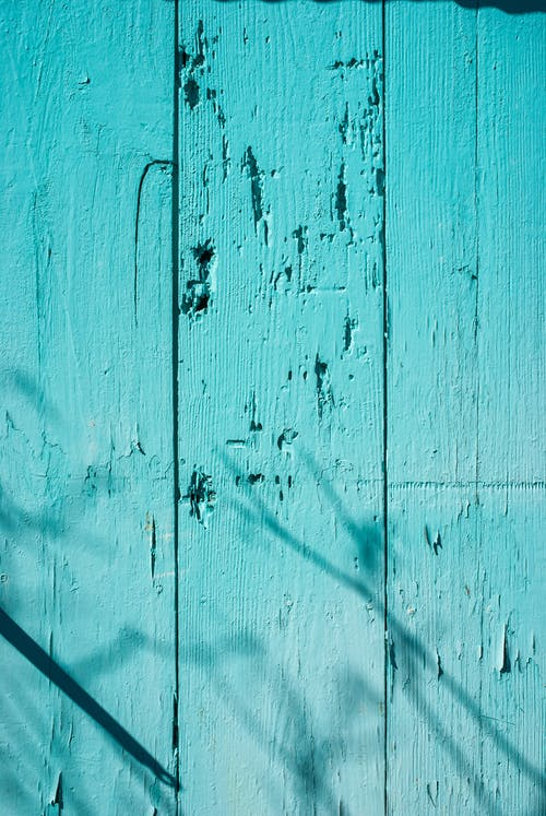 Teal Painted Wooden Wall