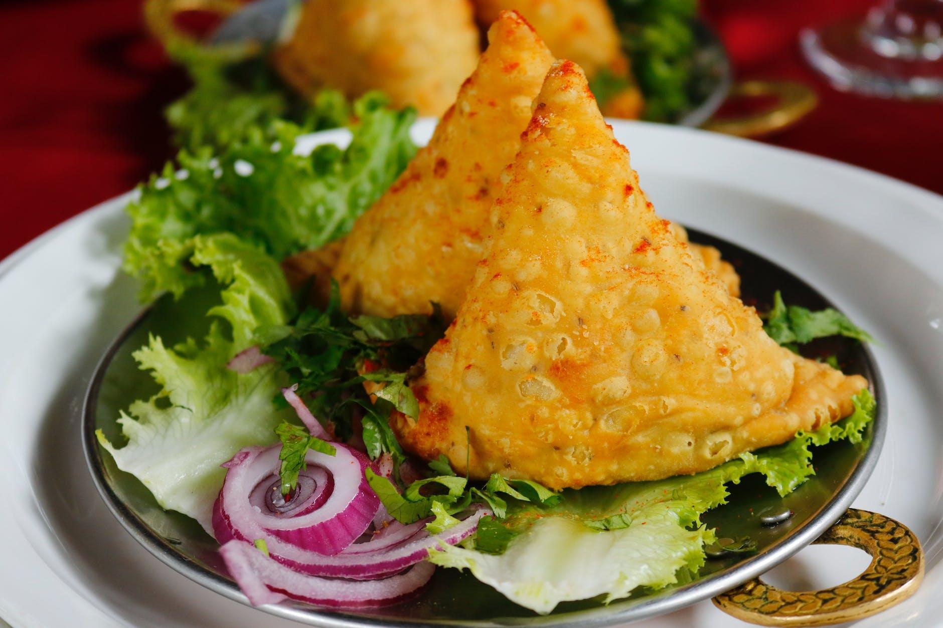 samosa in Indian restaurant in Croatia
