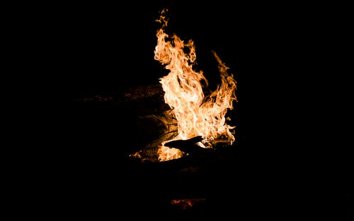 Gratis lagerfoto af appelsin, bål, brænde, brand