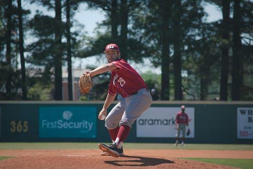 Kostnadsfri bild av aktiva, ansträngning, baseball handske, baseboll